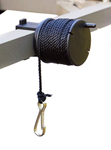 High Point Products Gear Lift Cord for Tree Stand, 25 Feet of Nylon Cord Clamps onto Tree Stand, Fits Square 1-Inch Tubing, Clamps On for Easy Assembly, Hauls Hunting and Archery Gear, Gun and Bow Easily into Tree Stand