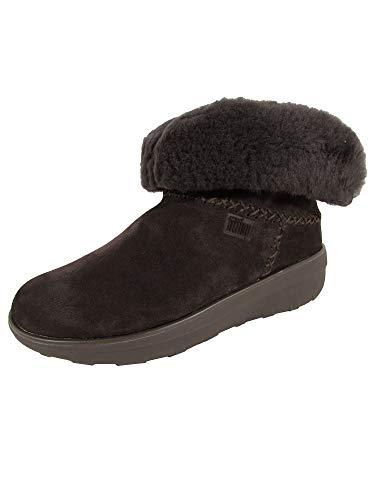 Fitflop Damen Mukluk Shorty 2 Boots Kurzschaft Stiefel, Braun (Chocolate), 36 EU