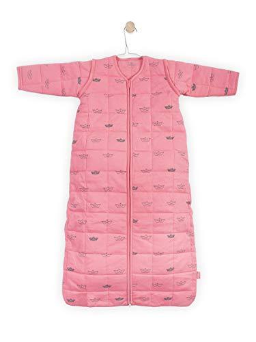 Jollein Schlafsack für 4 Jahreszeiten, Motiv kleine Boote, 110 cm, Rosa