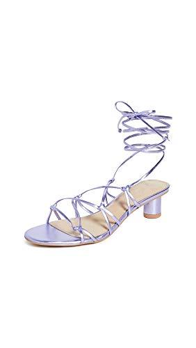 Villa Rouge Women's Cashmere Sandals, Lavender, Purple, 10 Medium US