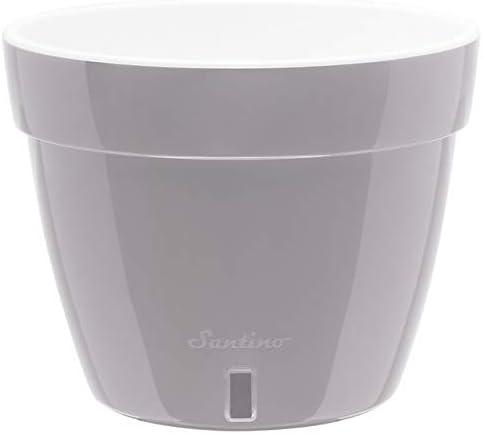 Santino-10.6-Inch-Self-Watering-Planter-Asti-in-Grey/White
