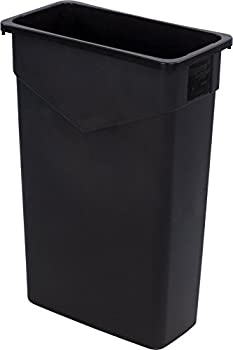 Carlisle 34202303 TrimLine Rectangle Waste Container Trash Can Only 23 Gallon Black