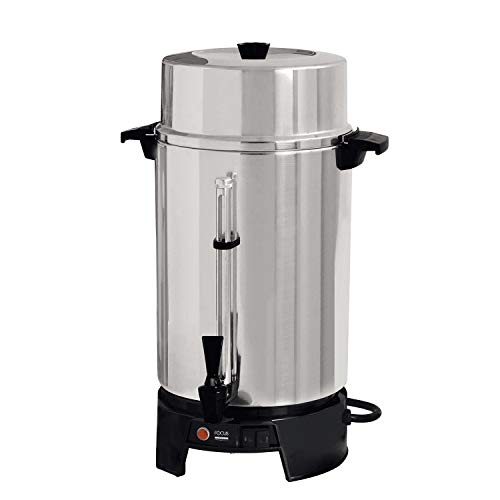 Focus Foodservice FCMLA100 Cool-Touch Commercial Coffee Urns - 100 Cup Capacity