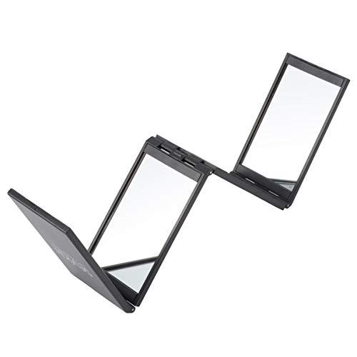 Lurrose Maquillage Miroir Pliant 4 Côtés 360 Pas D'angle Mort Poche Pliable Portable Miroir Cosmétique Miroir de Coiffure pour Les Voyages à Domicile