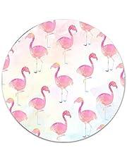 Flamingo Roze Water Vogel Ronde Metalen Tin Teken Geschikt voor Thuis en Keuken Bar Cafe Garage Muur Decor Retro Vintage Custom Muur Tin Plaque 12''