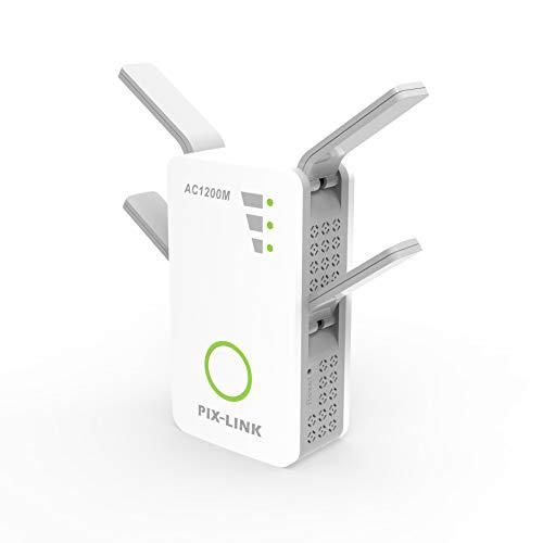 Xiaoxin WiFi Booster Mesh WiFi range Extender, 1200 Mbps naadloze roaming, One WiFi naam, werkt met elke wifi-router 4 antenne