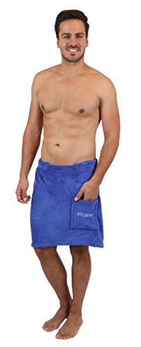 Betz Toalla para la Sauna para Hombres de vellón tamaño 50x140 cm de Color Azul