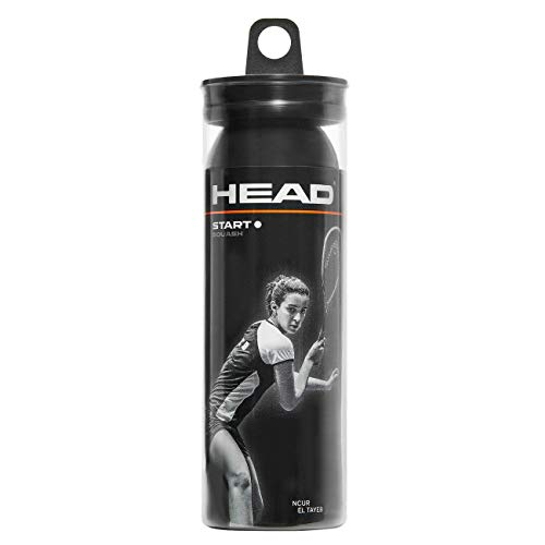 HEAD Start Balle de Squash Adulte Unisexe, Noir,...