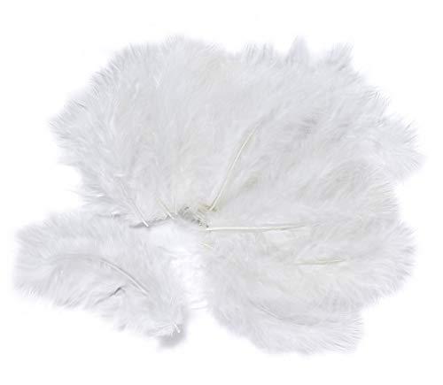 15 VBS Marabufeder 10cm Federn zur Deko flauschig Ostern Deko Gestecke Kränze Weiß