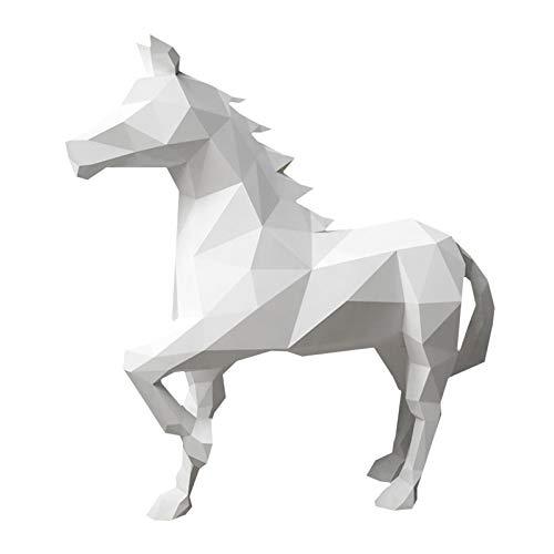 WLL-DP Forma De Corcel 3D Artesanía De Papel Papel De Bricolaje Modelo De Papel De Juguete Rompecabezas De Origami Hecho A Mano Escultura De Papel Decoración Geométrica Tridimensional