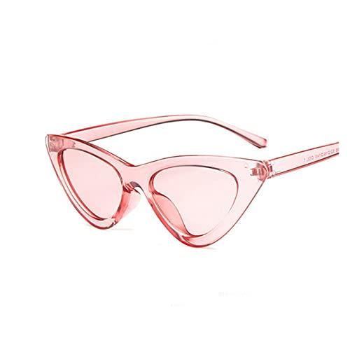 LEYIS Gafas de Montar Gafas de Pesca Retro Vintage Gafas de Sol Vintage Cateye Gafas Sexy Pequeño Gato Ojo Gafas de Sol para Las Mujeres (Color : Pink)