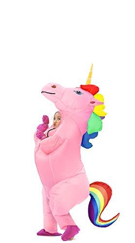 Disfraz Jyzcos hinchable de unicornio con cuerno