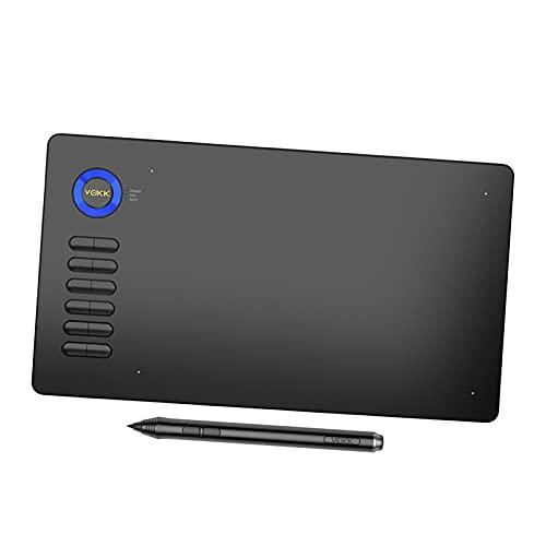 IPOTCH Tabletas gráficas, tabletas de Dibujo de 10 x 6 Pulgadas con lápiz óptico sin batería, compatibles con Windows Mac y Android, para la enseñanza y el - Azul