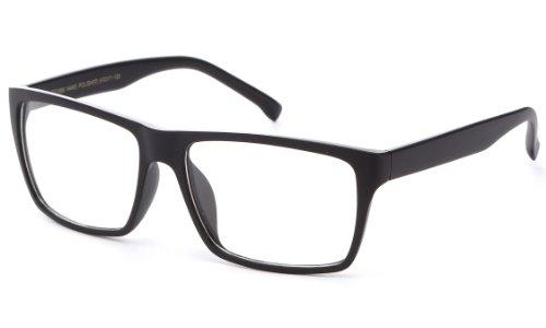 Newbee Fashion -'Retro' Unisex Squared Celebrity Star Simple Clear Lens Fashion Glasses