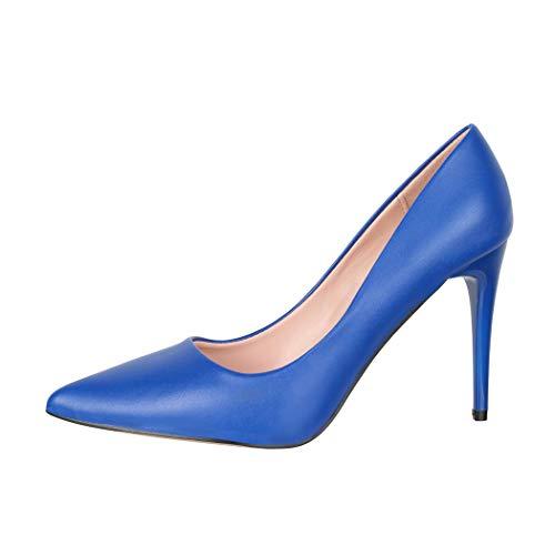Elara Zapato de Tacón Alto Mujer Puntiagudo Stiletto Chunkyrayan