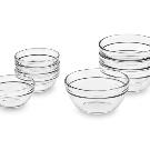Glass Prep Mixing Bowls, Set of 8 | Williams Sonoma