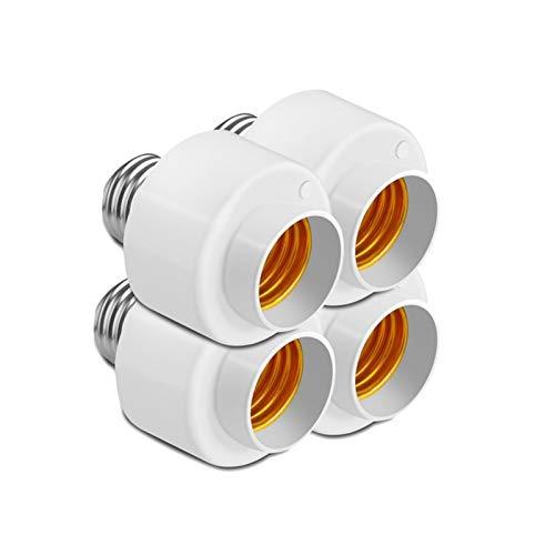 Base de bulbo 4pcs Wifi inteligente del bulbo sujetador del conector del adaptador E27 interruptor de la lámpara (Color : White)