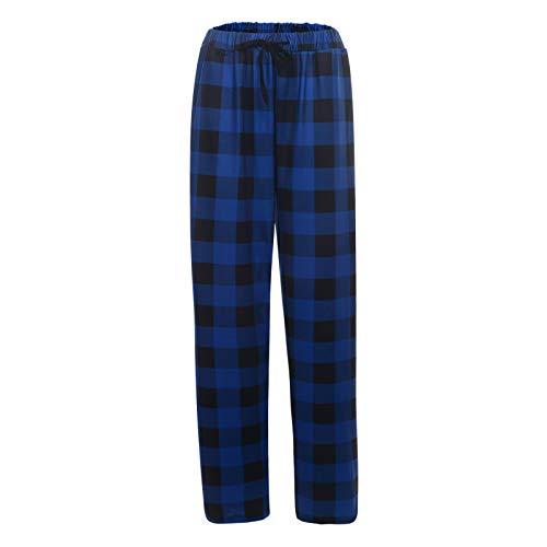 Dasongff Pyjama long pour homme - Pantalon de pyjama - Pantalon de loisirs - Pantalon de maison à carreaux