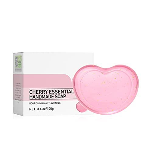 Jabón Limpiador de 100 g con Limpiador Facial Vegano en Forma de corazón de Red espumosa, Barra limpiadora Facial sin plástico, Limpiador Facial con Embalaje reciclable