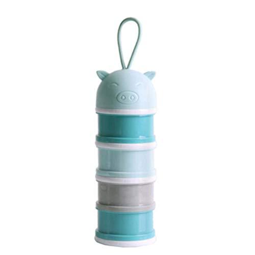YeahiBaby Dispenser di latte in polvere Impilabile contenitore spuntino per il campeggio di viaggio Azul