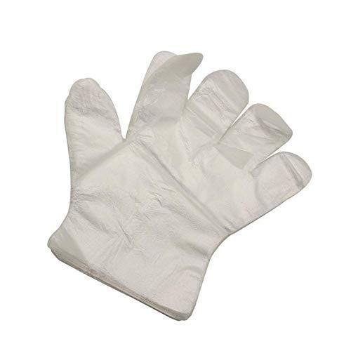 FiedFikt Einweg-Handschuhe aus Kunststoff für Restaurants, Hausdienst, Gastronomie, Hygiene, Einweg-Handschuhe, 500 Stück