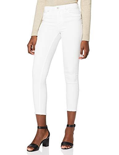 ONLY Damen Onlblush Mid Ank Raw Rea0730noos Skinny Jeans, Weiß (White White), M EU