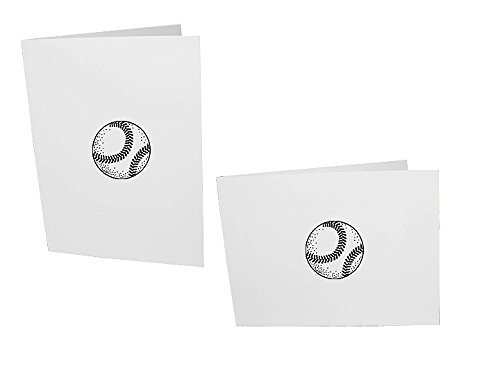 Baseball 4x6 Vertical Cardboard Event Photo Folders (50 Folders) by Studio Style By Collectors Gallery