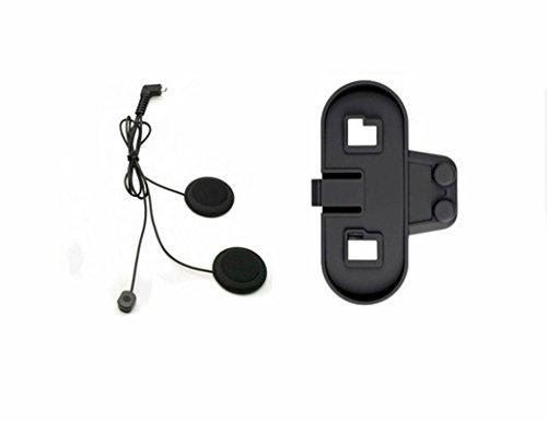 BOBLOV TCOM-SC Motorrad Intercom Headset Bluetooth Motorrad Sprechanlage 800M Motorrad Helm Interphone Intercom Headset(Nur Soft Earphone+Bracket)