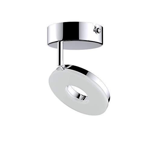 monzana Deckenleuchte Deckenstrahler 24 LEDs Chrom 1 Flammig 4,5 Watt 360° dreh- und 90° schwenkbare Spots Deckenlampe