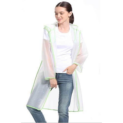 JXXDDQ EVA impermeable transparente y reutilizable, material EVA impermeable con tapa y mangas, adecuado para viajes, festivales, parques temáticos y actividades al aire libre (reutilizable EVA), EVA, Large