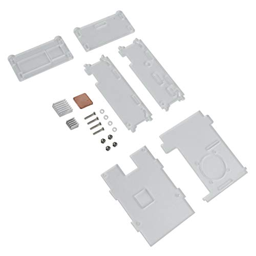 CandyTT Himbeerkuchen 3b 3b + Typ 1 GB transparentes Acrylgehäuse mit Kühlkörper-Gehäuseabdeckung 85 * 55 * 25 mm (transparent)