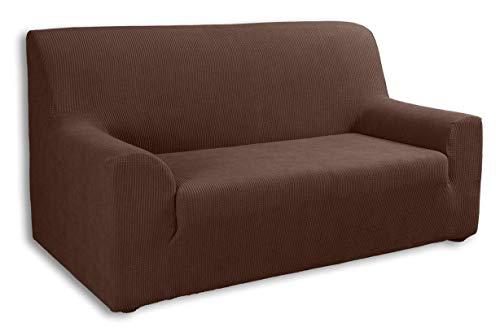 Tural Elastischer Sofabezug Valeta. Sofaüberwurf, Braun, 3 Sitzer (180-230cm)