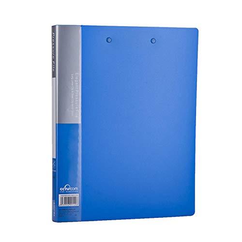 JIUJ Filjackor blå enkel klämma a4 mapp klassificering plast företag test papper ekonomi faktura display bok