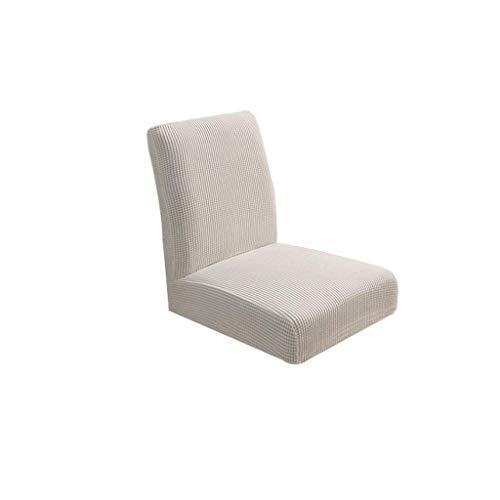 Tenlacum - Funda elástica para silla de respaldo corto, para bodas, cocinas, comedores, bares, discotecas, recepciones, decoración (como se describe, blanco)
