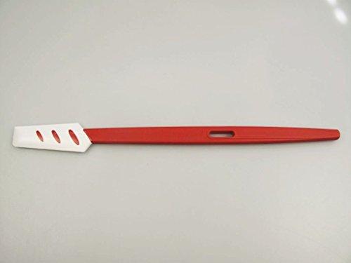 TUPPERWARE Griffbereit Kleiner Top-Schaber D78 weiß-rot Teigspachtel schmal 31219