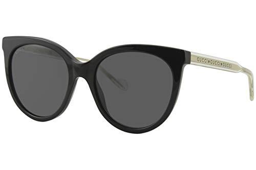 Gucci Unisex – Erwachsene GG0565S-001-54 Sonnenbrille, Schwarz Glänzend-Kristall Kristall, 54