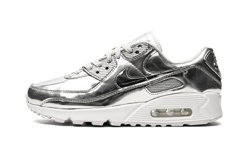 Nike Mujeres Air Max 90 Sp Corriendo Mujeres Casual Zapatos Cq6639-001, plateado (chapado en cromo/cromo puro platino blanco.), 41 EU