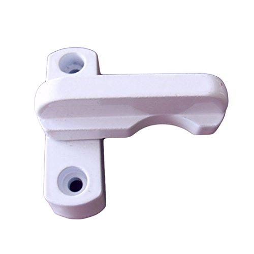 Verrou de verrouillage pour porte de fen/être UPVC//PVC en alliage de zinc Cl/é bloqueur Verrouillage de fen/être Blanc Blocage de fen/être
