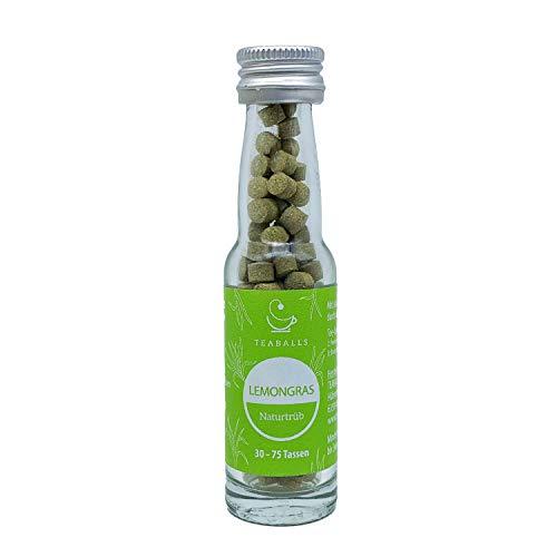 TEABALLS - Lemongras, naturtrüb (1 x 12g) | ca. 150 Teaballs | für ca. 30-75 Tassen Tee | 100% rein pflanzlich | Bekannt aus: DAS DING DES JAHRES