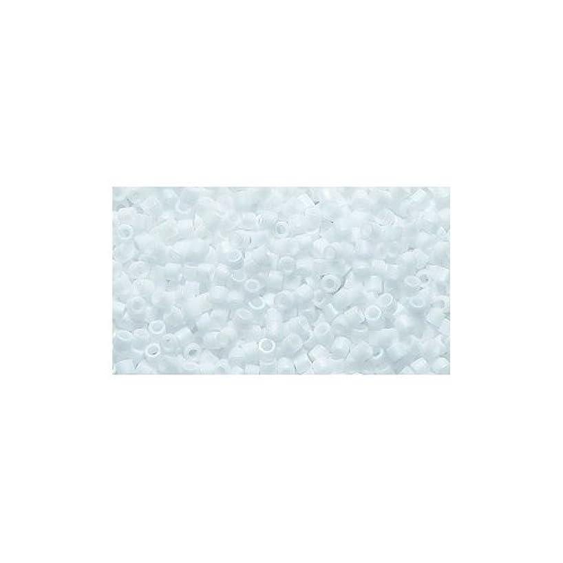 Miyuki Delica Seed Bead 15/0 DBS0351-M, Opaque Chalk White Matte, 9-Gram/Pack