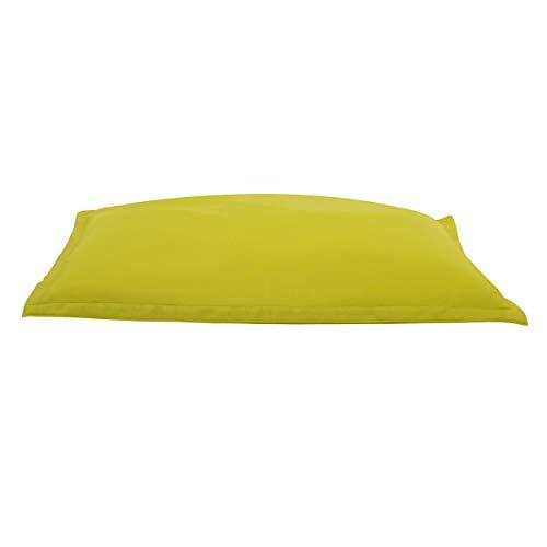 Cojín de piscina Big Bag 175cm, amarillo