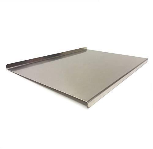 Fonderia Bongiovanni Spianatoia in Acciaio Inox tavola di Protezione per Piano da Lavoro per impastare Pizza Pane Dolci Pasta (larg. 60 - Prof. 43,5)