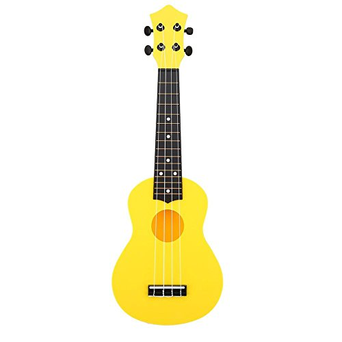 Mini Ukelele 21pulgadas instrumento música (4cuerdas juguete educativo musical regalo para principiantes niños, amarillo