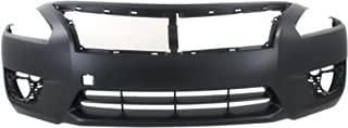 Front Plastic Primed Bumper Cover for 2013-2015 Nissan Altima NI1000285
