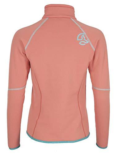 Ternua Kanya 1/2 Zip W T-Shirt pour Femme XL Bleu Marine - à Rayures (Duck Bleu/Marine Stripes)