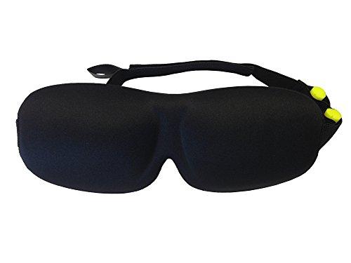 Pack antifaz para dormir de espuma EVA ultrasuave y confortable + Tapones para los oídos de alta calidad y durabilidad + Bolsa de tela para guardar (Talla S, 21 x 7,5 cm)