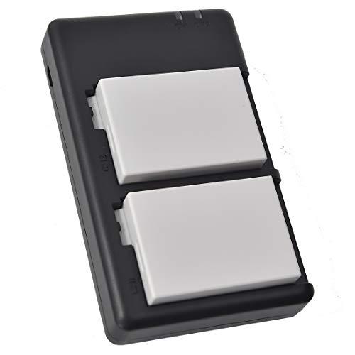 DSTE LP-E8 Batteria di ricambio (2 pacchetti) e caricatore rapido doppio compatibile per Canon EOS 550D 600D 650D 700D