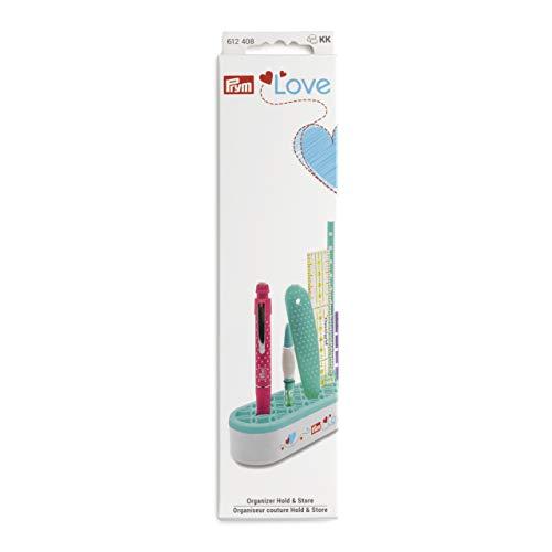 Prym 612408 Love Organizer Hold & Store Sortierkasten, Kunststoff, mint/weiß, 35 x 50 x 210 mm