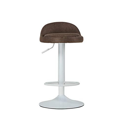 FYMDHB886 Barkruk barstoel Stof/Weefsel koffiebarkruk Tweekleurige bureaustoel Veiligheidsgasstang kan worden gedraaid en opgetild Grote schijfbasis, Size, A