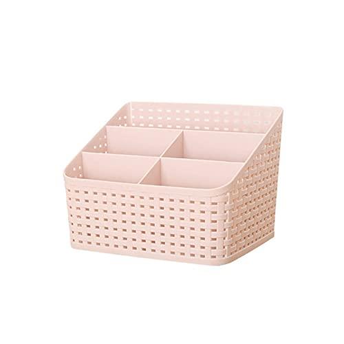XUEXIU Caja Organizador De Maquillaje para Cosmetics Desk Office Storage Estuche De Cuidado De La Piel Caja De Lápiz Labial Caja De La Joyería Organizador De Joyería (Color : Pink)